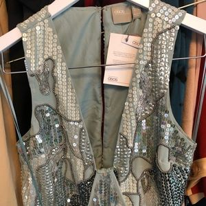 Beaded mini dress